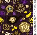 flower pattern floral 43749238