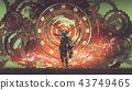 the man of futuristic clock 43749465
