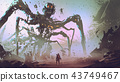 facing the giant spider robot 43749467