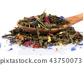 Flavoured green tea isolated 43750073