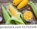 Canned corn, fresh and cooked corn on cobs, salt. 43750346