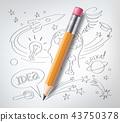 education pencil sketch 43750378