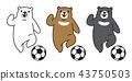 Bear vector polar Bear soccer football logo icon 43750503