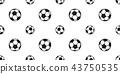 soccer ball seamless pattern football vector  43750535