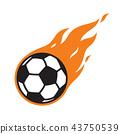 soccer ball vector logo icon football fire symbol 43750539