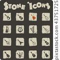 string instruments icon set 43751725