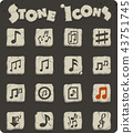 musical notes icon set 43751745