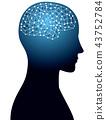 大腦和網絡圖像 43752784