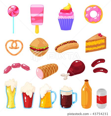 set of fast food 43754231