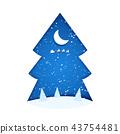 moon, tree, christmas 43754481