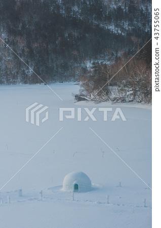 北然別湖冰上村的早晨 43755065