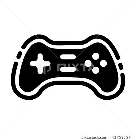 Game controller Solid illustration 43755257