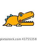 Croc LineColor illustration 43755358