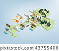 Thailand travel map design concept 43755406