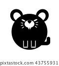 Rat Solid illustration 43755931