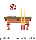 Billiard Table Flat Icon 43755937