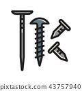 Nails LineColor illustration 43757940