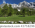 Landscape of Italian Alps in spring 43758296