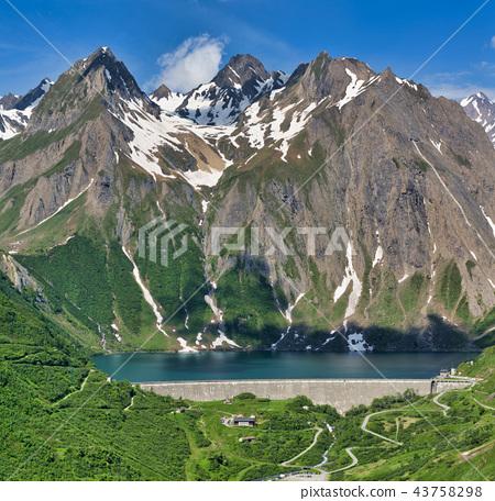 Dam of Morasco Lake 43758298
