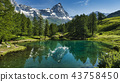 The blue lake and the Matterhorn 43758450