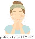 ล้างหน้า,ผู้หญิง,หญิง 43758827
