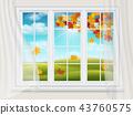 window, autumn, vector 43760575
