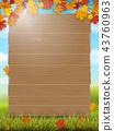 Wooden sign on rural landscape background 43760963