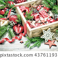 Christmas decorations ornaments vintage toned 43761193