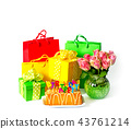 Happy Birthday Party decoration gift box flowers 43761214