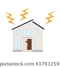 Illustration of lightning and house 43761259