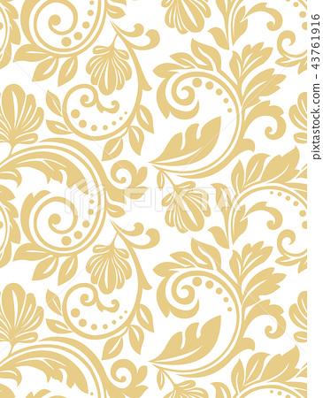 Floral pattern. Wallpaper baroque