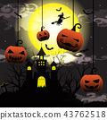 Darkness of Halloween night background 43762518