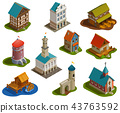 Medieval Buildings Isometric Set  43763592