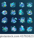 glow, set, isometric 43763623
