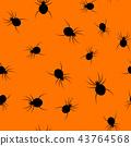 Seamless Halloween spider paper art pattern 43764568