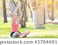 exercise, female, outdoors 43764691