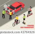 Eco Transport Isometric Poster 43764926