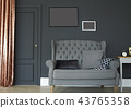 Classic interior of a room with door 43765358