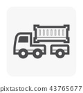 trailer icon black 43765677