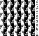 Seamless geometric pattern. 43767825