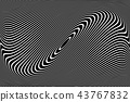 Abstract wavy lines design. 43767832