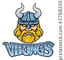 viking, mascot, warrior 43768205