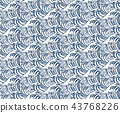 Wave Seamless Pattern Print Single Color 43768226