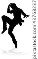 Street Dance Dancer Silhouette 43768237