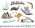 australia vector symbols 43769217