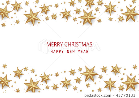 Christmas and Happy New Year Vector Background. 43770133