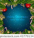 Christmas and Happy New Year Vector Background. 43770134
