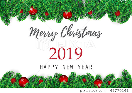 christmas and happy new year vector background