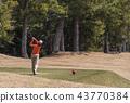 นักกอล์ฟหญิงยิงทีเล่นวัสดุรูปภาพรูปภาพ 43770384