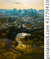 Li river and stunning karst mountain in Guilin 43770410